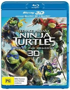 Teenage Mutant Ninja Turtles - Out Of The Shadows (Blu-ray,3D, 2-Disc New Sealed