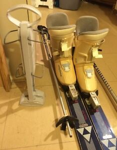 Women's/Junior - Downhill Ski's, Boots & Ski Boot Carrier.