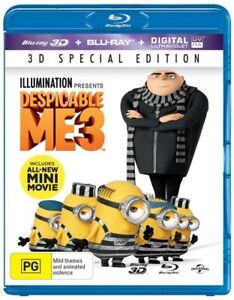 Despicable Me 3 (Blu-ray, 2017, 2-Disc Set, 3D) Brand New & Sealed