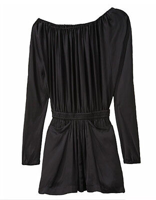 [Alexander Wang] Asymmetrical Romper Black Sz US 6 / Auth New With Tag
