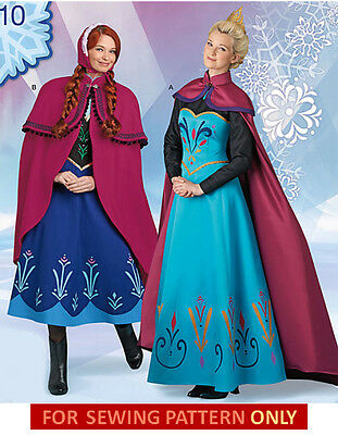 SEWING PATTERN! MAKE ADULT FROZEN COSTUME! ELSA CORONATION DRESS~ANNA DRESS~CAPE (Make Anna Costume)