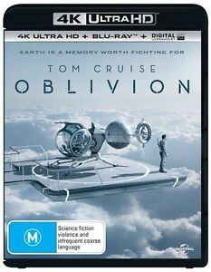 Oblivion 4K Blu-Ray UHD UV NEW Tom Cruiser