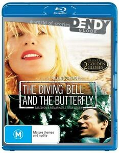 The Diving Bell and the Butterfly (BLU-RAY) winner 2 golden globes, Region Free