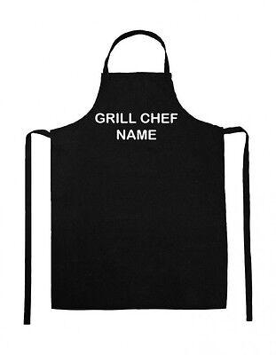 Personalisierte Grillschürze Kochschürze Latz Schürze Druck GRILL CHEF mit Name