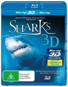 Sharks-3D-2D-Blu-ray-Combo-2011-Special-Interest-Jean-Michel-Cousteau-NEW