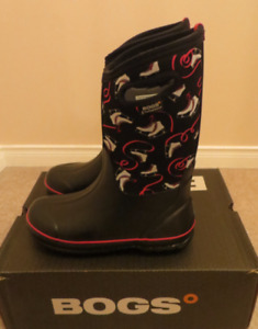 Bogs Girl (Ice Skate pattern) Snow Winter Boots Size 6
