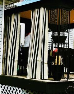 PARASOL OUTDOOR UV CURTAINS - 2 Curtains for $35