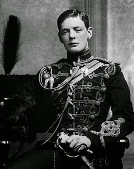 "Winston Churchill in 1895 8""x 10"" World War II British Prime Minister Photo 377"