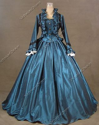 Victorian Civil War Dickens Day Dress Ball Gown Theater Reenactment Clothing 170