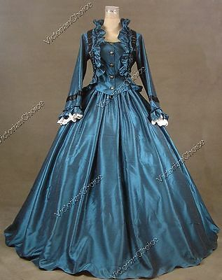 Victorian Civil War Vintage Witch Gown Dress Halloween Theater Clothing N 170 L