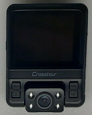 Uber Dual Lens Dash Cam GPS Car Camera Crosstour 1080P Front 720P Inside Full HD