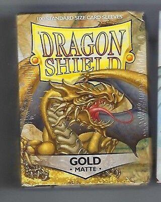 Dragon Shield Matte Gold  100  Shield Sleeves Free Shipping