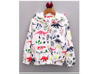Girls / boys floral dinosaur summer jacket various sizes