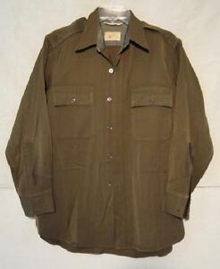 original WWII US AAF Chocolate Brown Shirt - 1943 dated Military Uniform