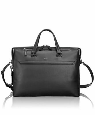 TUMI Ashton Gates Slim LEATHER Laptop Brief - BLACK - 933254D $895