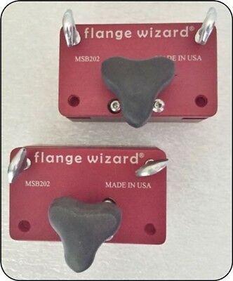 Flange Wizard Magnetic Blocks For Burning Guides Msb202 Straight Edge Holder