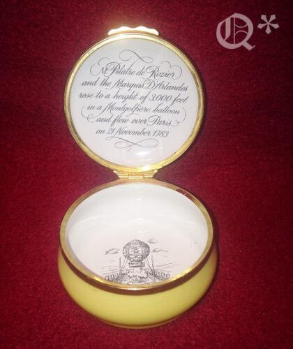 Halcyon Days Enamel Thinking Porcelain box