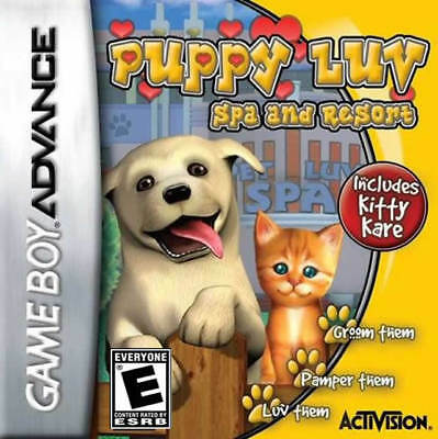 Puppy Luv Spa & Resort Tycoon GBA New Game Boy - Puppy Luv