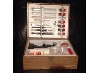 Vintage microscope set nearly complete science game children toy scientific boxed