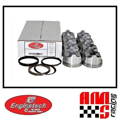Ford Pistons Moly Rings (FLAT TOP PISTONS & MOLY RINGS SET for 1977-1992 SBF FORD 302 5.0)