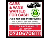 ✅🔴 WANTED ALL CARS AND VANS FOR CASH EVEN SCRAP ANYTHING SELL MY VEHICLE COLLECTION TODAY