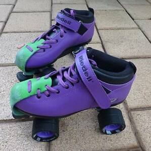 Riedell Dart Purple Skates Greenwith Tea Tree Gully Area Preview