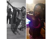 The walking dead bundle Michonne and rick 10inch Mcfarlane figures