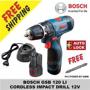 Bosch Gsb 120 Li Cordless Impact Drill Power Tool Drill