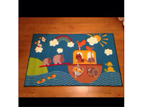 Nursery children's bedroom rug 100 x 160 cm Noah's ark / animal theme