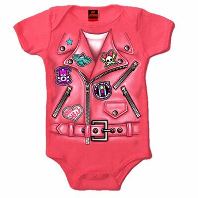 Baby Bodysuit - Biker Jacket Cute Motorcycle Themed Baby Clothes for Infants
