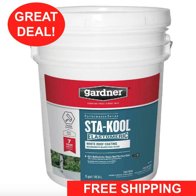 5 gallon roof elastomeric coating rv rubber