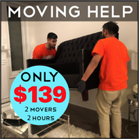 Moving Help – 2 Hour, 2 Movers – Only $139 – Within 24 Hours