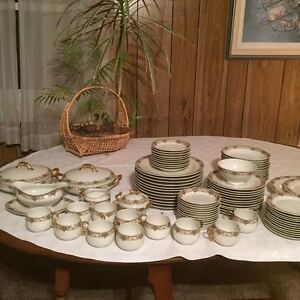 Laborate Limoges Dishes 1880 to 1914~92 Pcs w/12 Plate Settings!