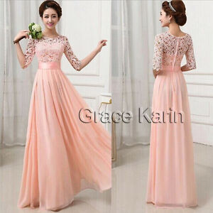 NEW YEAR SALE!! Long Lace Women Prom Evening Party Bridesmaid Wedding Maxi Dress