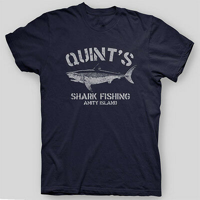 Quints Shark Fishing Jaws Amity Island Brody Orca Spielberg T Shirt Sizes S 5X