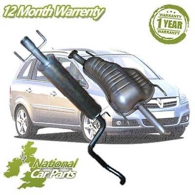Vauxhall Astra Mk4 Zafira 8v 16v 1.6 Center Section Exhaust Pipe & Rear Silencer