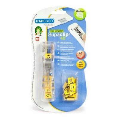 Rapesco Supaclip 40 Stainless Steel EMOJI CLIP Dispenser :) :( :/