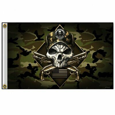 HOMELAND SECURITY Flagge Fahne Banner NEU Camouflage Skull Camo Club  Biker  (Land Flagge Banner)
