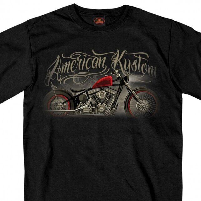 Men's Harley Motorcycle Tee - Graphic - 100% Cotton, Biker, Old School, Retro