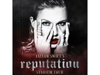 2 x tickets for Taylor Swift concert in Manchester