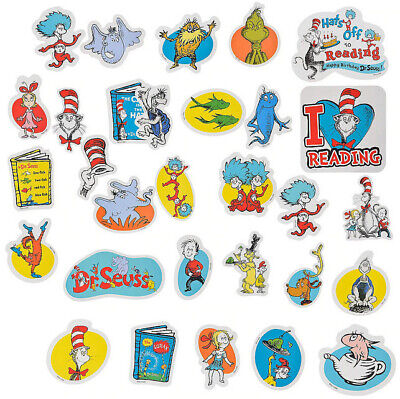 Dr Seuss Birthday Decorations (DR. SEUSS book  CAT IN THE HAT Birthday Party CUTOUTS 30pcs Thing1 & 2 Fish)