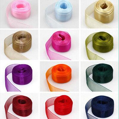 "Lots 50Yards 3//8/""9mm Satin Edge Sheer Organza Ribbon Bow Delicate Craft Wedding"