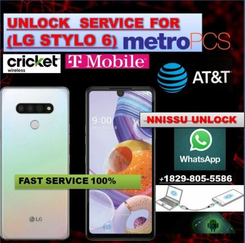 Remote unlock service LG Stylo 6 Metro pcs T-mobile Cricket At&t