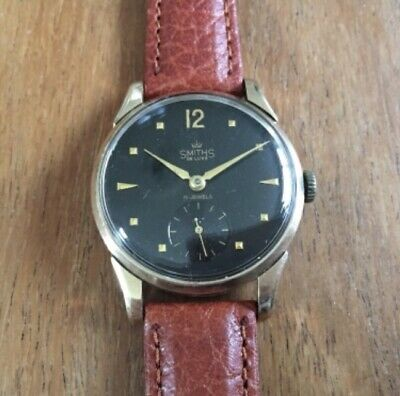 Smiths Deluxe 1956 9ct Gold Watch Serviced