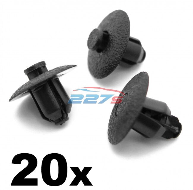 20x Plastic Rivet Trim Clips for Toyota & Lexus Wheel Arches, Inner Wing & Cowls