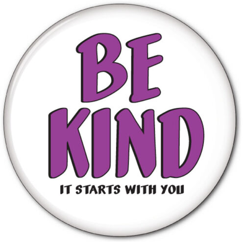 "QTY 40 BE KIND IT STARTS WITH YOU BUTTONS 3"" SAFETY PIN SPREAD THE LOVE"