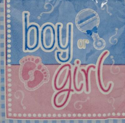 Gender Reveal Paper Beverage Napkins - 16 ct (Halloween Gender Reveals)