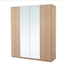 NEW IKEA PAX LARGE WARDROBE 2mx201x60cm WHITE STAINED OAK, NEXUS VIKEDAL DOORS.