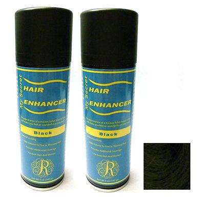 My Secret Hair Enhancer BLACK for thinning hair loss 5 oz - TWO PACK VALUE](Black Spray For Hair)