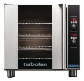 Blueseal E32D4 Turbofan Convection Oven with steam facility - comes with S/S sheetpan trolley